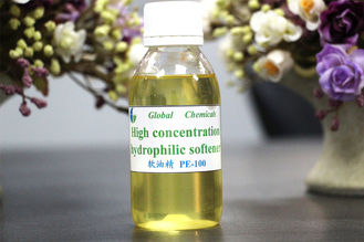 Pale Yellow Liquid High Concentration Hydrophilic Cationic Softener PE-100