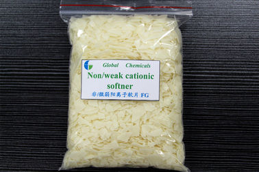 Nonionic / Weak fabric softener flakes , Textile Chemical Auxiliaries Surfactants