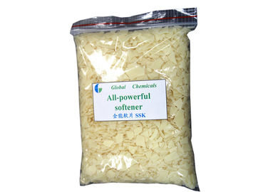 Hot Water Soluble All - powerful Softener Flakes Low Yellowing / Low Foaming