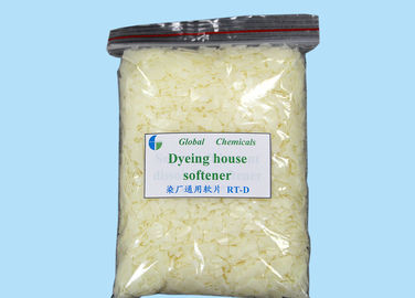 Low Viscosity Pale Yellow Flakes Cationic Softener Flakes For  Dyeing House