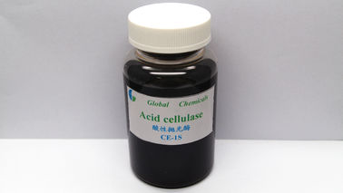 Brown Liquid Textile Enzymes Acid Cellulase Enzyme CE-1S Strength Loss