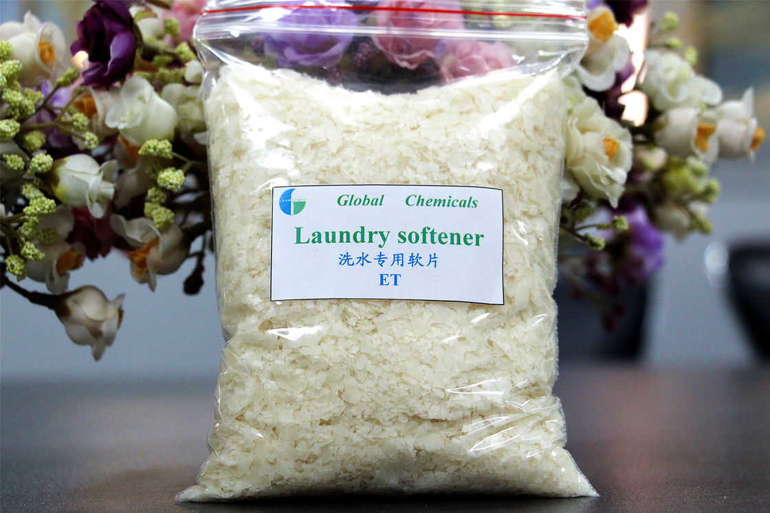 Hydrophilic , Pale Yellow Laundry Softener Flakes ET Cloth Use