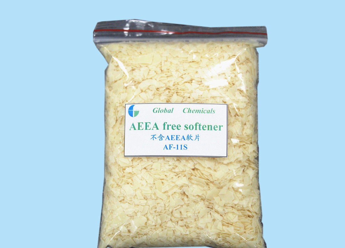 Low Yellowing Eco - Friendly AEEA Free Softener Flakes Hot Water Soluble