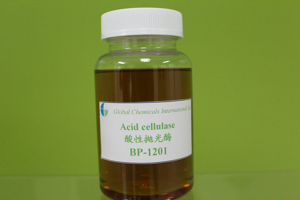 Low Weight Acid Cellulase Enzyme , Brown Yellow Liquid Textile Enzymes