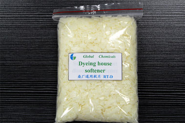 China Cationic Textile Finishing Fabric Softener Flakes Designed For Dyeing House factory
