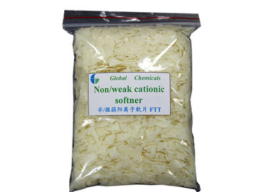 China Nonionic / Weak Cationic Softener Flakes High Performance Softeners For Textiles factory
