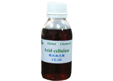 Fabric Biopolishing Treatment Acid Cellulase enzyme CE - 1H For Denim Fabric