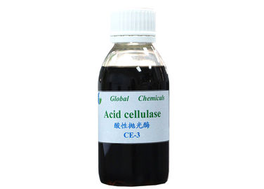 SGS Chemical Acid Cellulase Enzyme CE - 3 For Textile Bio Polishing Process
