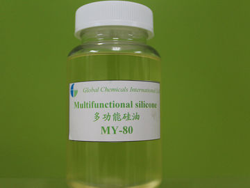 China Multi-functional Silicone Oil , Nonionic / Weak Cationic Amino Silicon MY-80 factory
