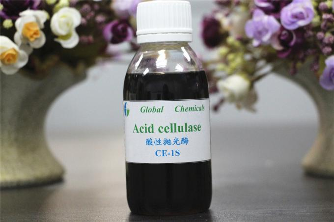 Industrial Textile Chemical Biopolishing Acid Cellulase Enzyme / Chemical Auxiliary Agent