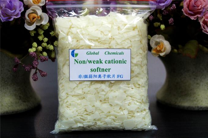 Nonionic / Weak Cationic Softener Flakes Hydrophilic Textile Processing Chemicals