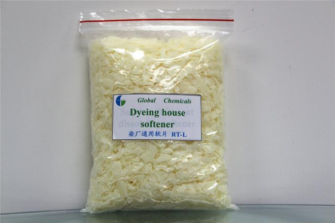 Hot Water Soluble Dyeing House Softener Flakes Finishing Chemicals Softeners