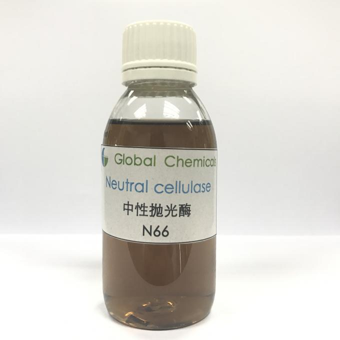 Yellow Brown Liquid Neutral Cellulase Enzyme Used For Biopolishing Treatment Of Denim